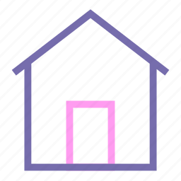 expanded, home, line, ui icon
