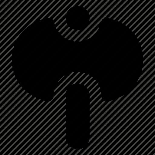 axe, battle axe, double axe, sword axe, tool, weapon icon