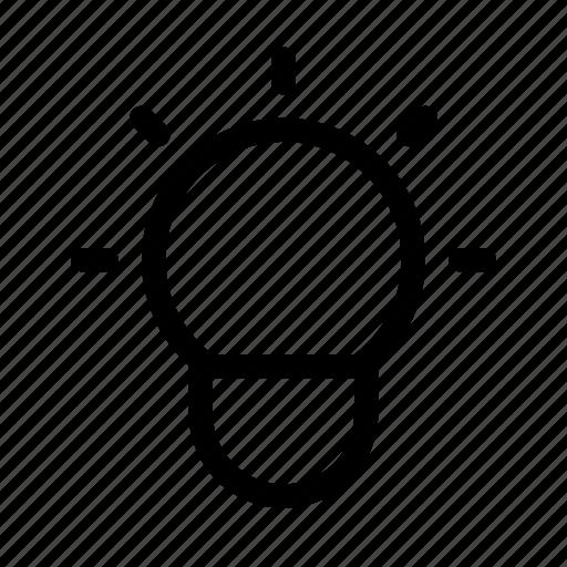 interface, lamp, notification, user icon