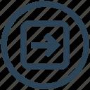 arrow, direction, next, right, square, ui, ux icon