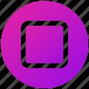 blank, box, layer, square, ui, ux icon