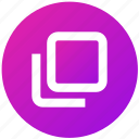 box, front, layer, square, two, ui, ux icon