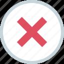 delete, stop, ui, x icon