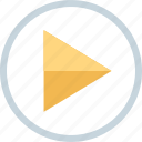 play, triangle, video, youtube icon