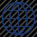 globe, interface, internet, network, ui icon
