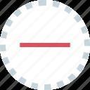 line, negative, neutral, ux icon