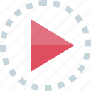play, video, youtube, youtuber icon