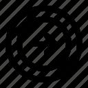 circle, arrow, right, next