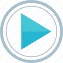 play, player, video, youtube icon