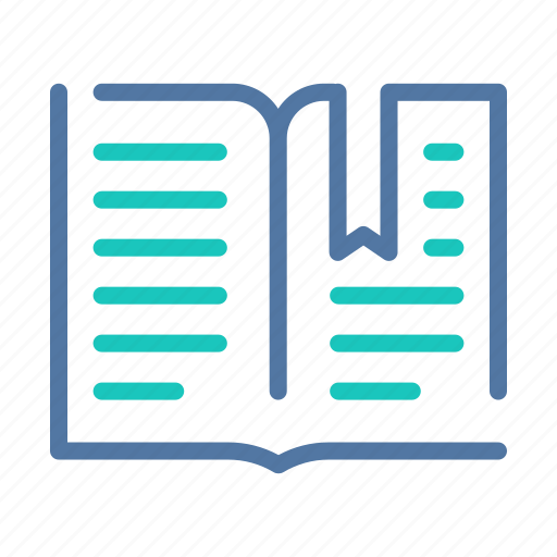 book, bookmark, interface, library, ui, user, ux icon