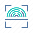 fingerprint, id, identification, interface, scanning, ui, user icon
