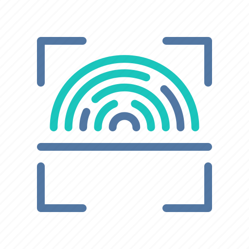 fingerprint, id, identification, interface, scanning, ui, user icon