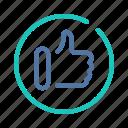 interface, like, media, popular, social, ui, user icon