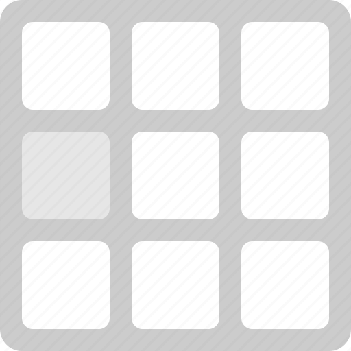 grid, interface, layout, ui, web icon
