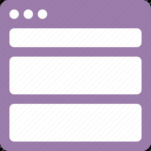 horizontal, interface, layout, ui icon