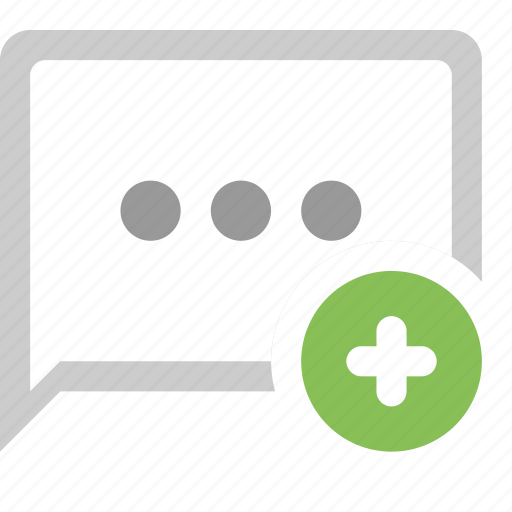 bubble, chat, plus, ui icon