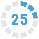 count, progress, round, sections icon
