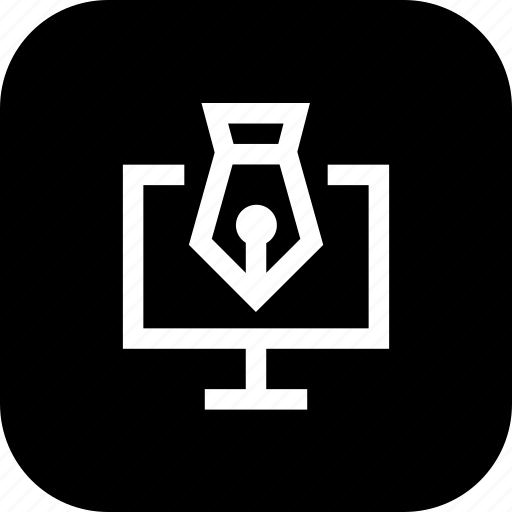 graphic, ink, laptop, paint, pc, pen, ui icon