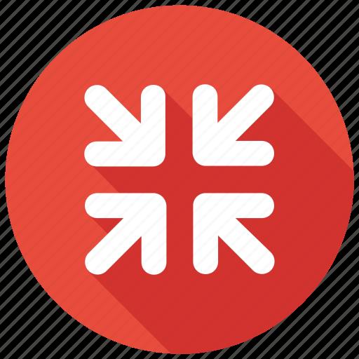 arrow, minimize, reduce, reduction, screen, ui, zoomicon icon