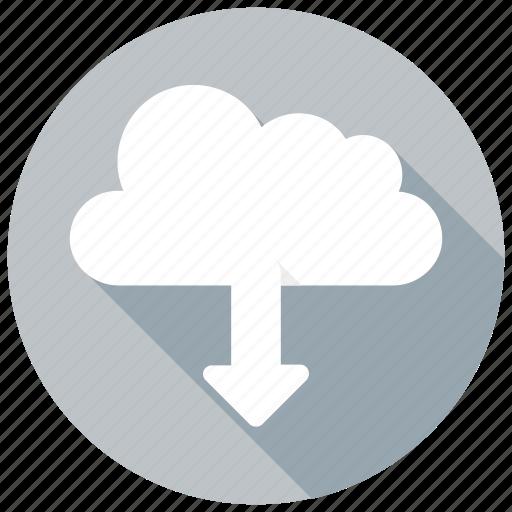 cloud, data, download, downloading, network, tranfer, transfericon icon