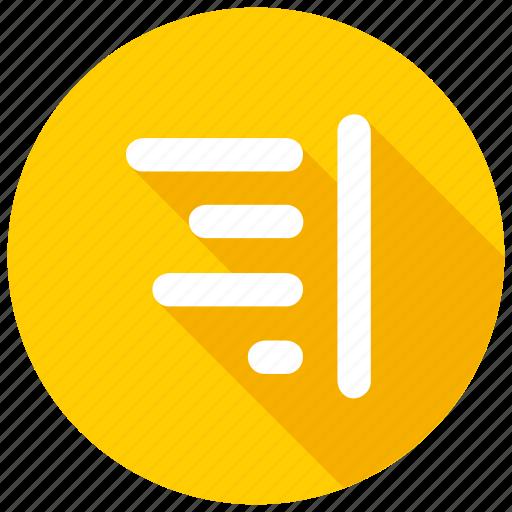 format, right, texticon icon