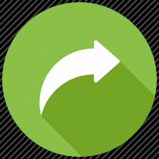 arrow, next, redo, right, share, share filesicon icon