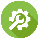 cog, gear, machinery, setting, wrench icon