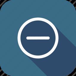 delete, interface, minus, remove, round, ui icon