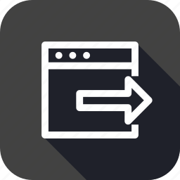 arrow, document, export, file, import, right, window icon
