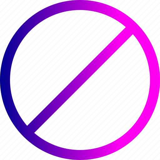 circle, denied, notice, remove, round icon