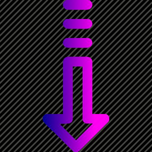arrow, decrease, direction, down, download, way icon