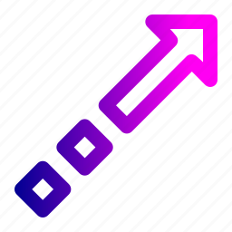 arrow, boost, fashion, increase, square, way icon