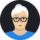 avatar, grandmother, mature, old, person, user, woman