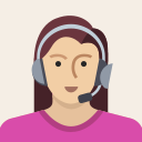 avatar, female, headset, person, support, user, woman icon