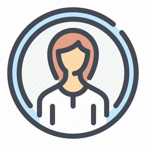 Account, avatar, circle, female, person, profile, woman icon - Download on Iconfinder