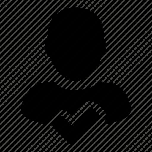 accept, approve, human, profile, user icon