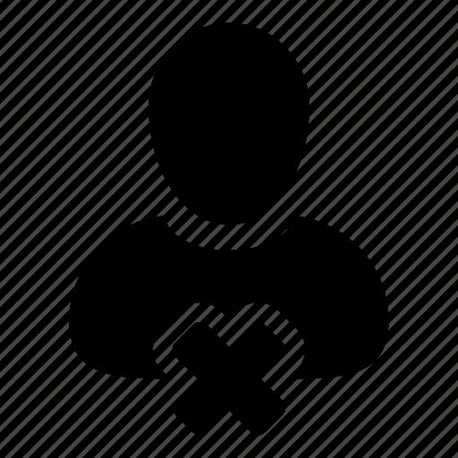 advocate, close, delete user, engineer, user icon