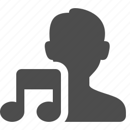 audio, male, man, music note, user, users icon