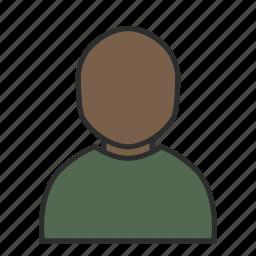 avatar, face, green, human, male, plain, user icon