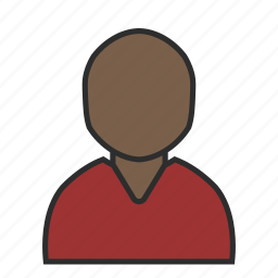 avatar, casual, cut, profile, red, sweater, user icon