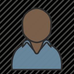 blue, casual, golf, man, polo, shirt, user icon