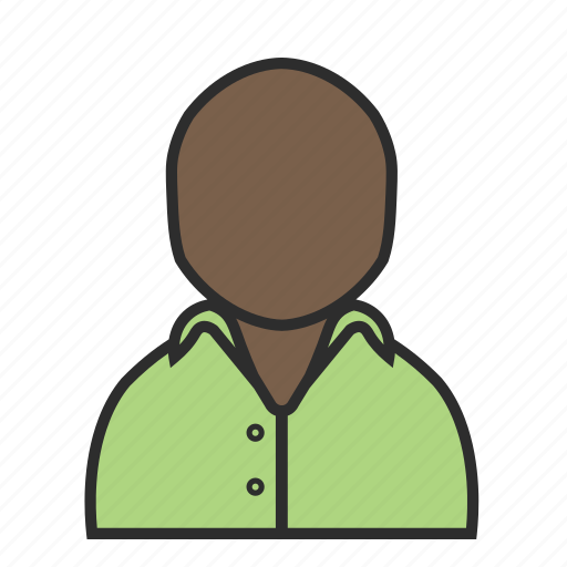 account, avatar, casual, green, man, shirt, user icon