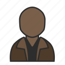 account, avatar, casual, jacket, man, profile, user icon