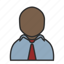 account, avatar, blue, person, shirt, tie, user icon