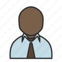 business, job, office, shirt, tie, user, work icon