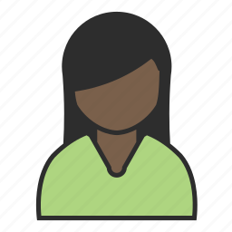 avatar, cut, female, green, sweater, user, woman icon