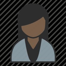 avatar, casual, female, pretty, sweater, user, woman icon
