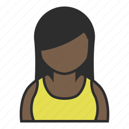 avatar, dress, face, female, user, woman, yellow icon