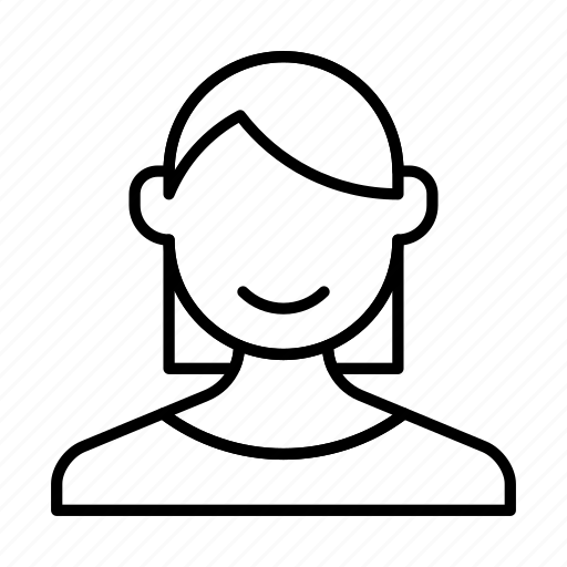 account, avatar, girl, person, profile, woman icon