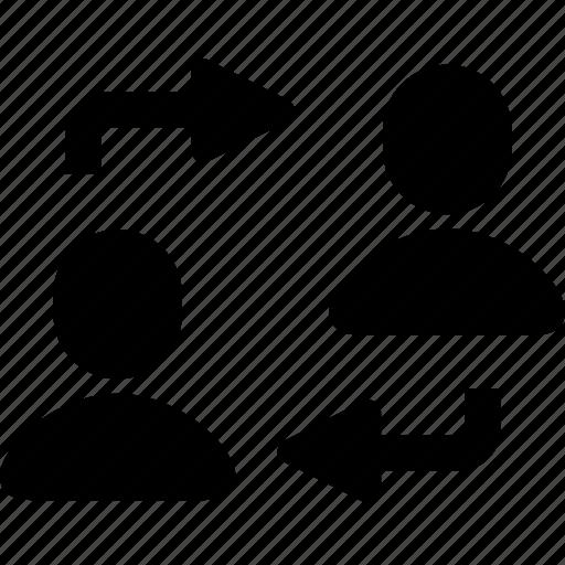 arrow, change, exchange, human, reorder, swap, user icon